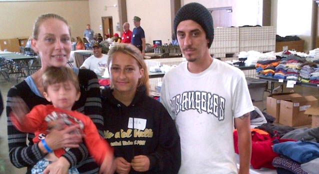 Homeless Family at Ventura County Stand Down